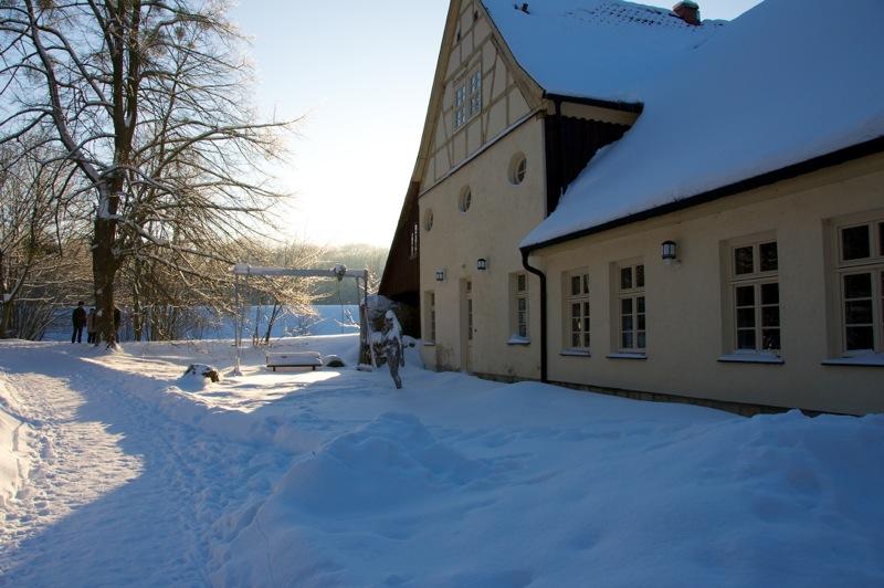 Die Schlossmühle im Schlosspark zu Ballenstedt