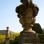 Skulptur im barocken Garten zu Blankenburg im Harz.