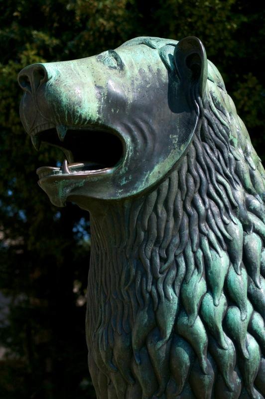 Bild: Detailansicht des bronzenen Löwen der Braunschweiger.