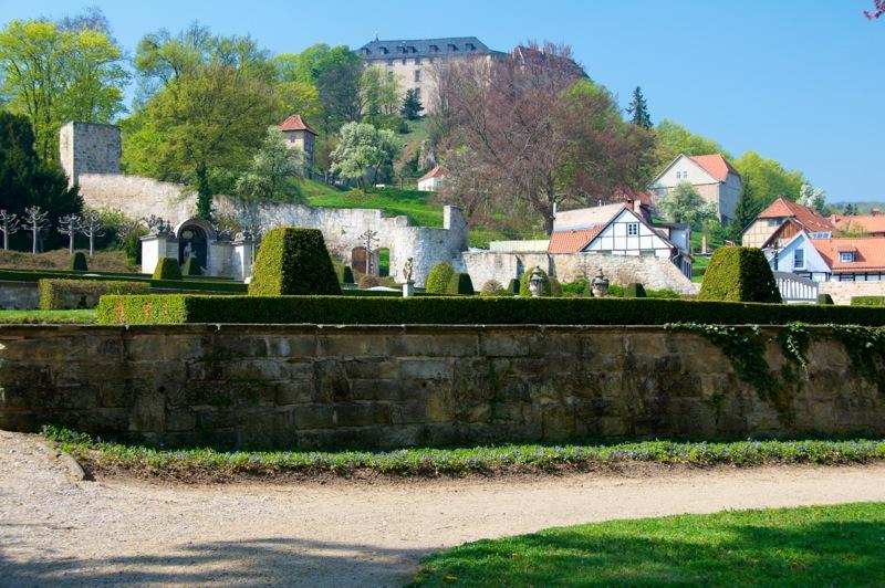 Bild: Blick vom Barockgarten auf das Große Schloss zu Blankenburg im Harz.