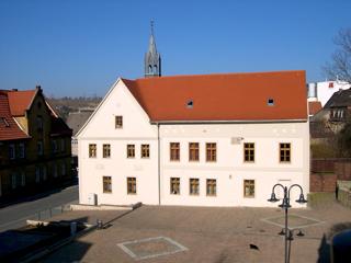 Bild: Das Rathaus der Stadt Schraplau.