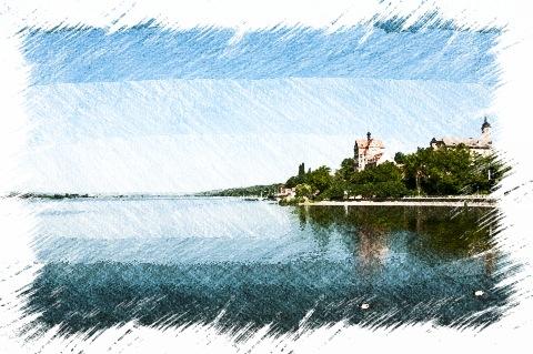 Bild: Schloss Seeburg am Süßen See.