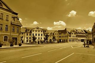 Bild: Der Plan von Eisleben war einer der markanten Punkte der Lutherstadt, die Kaiser Wilhelm II. passierten sollte. Aufnahme © 2011 by Bert Ecke.