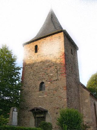 Bild: Die Kirche von Biesenrode. Originalfoto © 2009 by Bert Ecke. Render © 2012 by Birk Karsten Ecke.