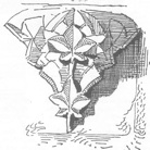 Bild: Konsolstein in der Templerkapelle Mücheln bei Wettin in einer historischen Zeichnungen. Dieses Bild ist gemeinfrei, weil seine urheberrechtliche Schutzfrist abgelaufen ist.