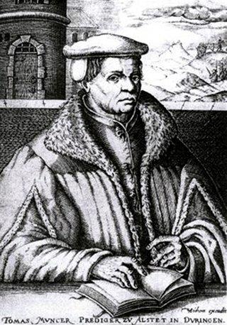 Bild: Thomas Müntzer in einem Stich von Christoph van Sichem. Dieses Bild ist gemeinfrei, weil seine urheberrechtliche Schutzfrist abgelaufen ist.
