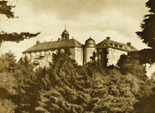 Bild: Schloss Blankenburg - zuvor Jagdschloss der Herzöge von Braunschweig - diente Prinzessin Viktoria Luise von Preußen und Prinz Ernst August III. von Hannover als Sommerresidenz. Dieses Bild ist gemeinfrei, weil seine urheberrechtliche Schutzfrist abgelaufen ist.