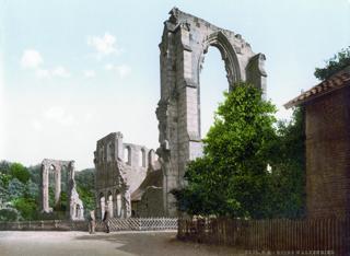 Bild: Das Kloster Walkenried in einer Abbildung um 1900. Dieses Bild ist gemeinfrei, weil seine urheberrechtliche Schutzfrist abgelaufen ist.