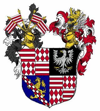 Bild: Das Wappen der Grafen von Mansfeld ab 1481. Dieses Bild wurde unter der GNU-Lizenz für freie Dokumentation veröffentlicht.