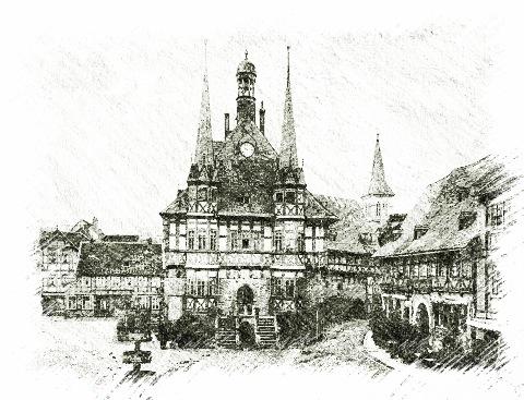 Bild: Das Rathaus von Wernigerode.
