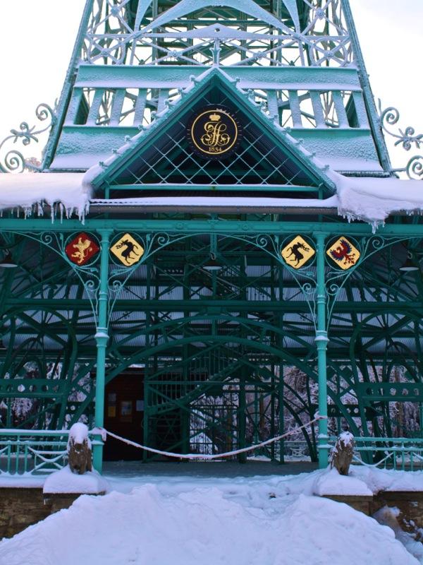 Bild: Ein Wintermorgen am Josephskreuz auf dem Großen Auerberg bei Stolberg im Harz..