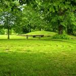 Bild: Das Riesenlabyrinth Trojaburg oder Schwedenring von Steigra.