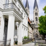 Bild: Auf dem Domplatz von Halberstadt.