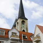 Bild: Blick auf die Türme der Martinikirche von Halberstadt.
