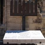 Bild: Mahnmal am Dom zu Halberstadt für die jüdischen Opfer der Shoa.