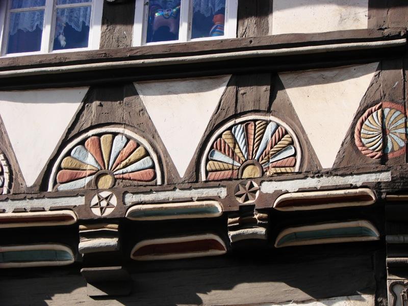 Bild: Stolberg - Detail Fachwerkhaus.