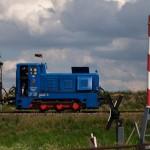 Bild: Bergwerksbahn auf Sonderfahrt bei Siersleben.