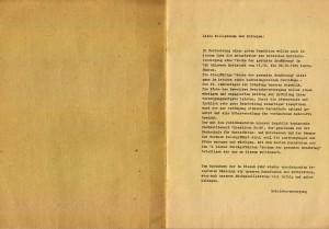 """Bild: Vorwort des Rezeptheftes """"Woche der Gesunden Ernährung 1989"""" vom VEB Walzwerk Hettstedt."""